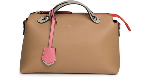 Fendi By The Way M3569 1 lyst fendi by the way small colorblock leather satchel in