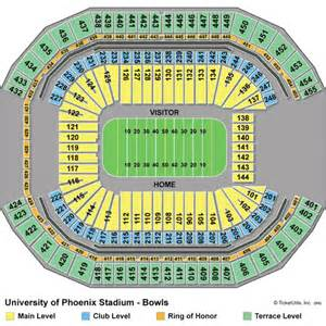 University Of Phoenix Stadium Parking Map by Fiesta Bowl Tickets