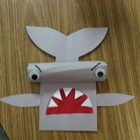 Paper Towel Crafts - hammerhead shark made with paper towel roll for 3d