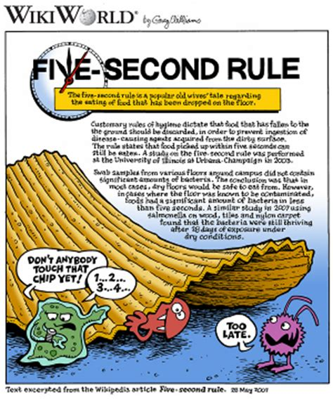 10 second rule food floor is the five second rule giving way to a zero second rule