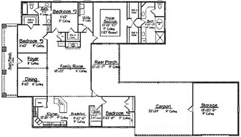 4 bedroom open floor plans 653397 acadian 4 bedroom 3 bath house with open plan