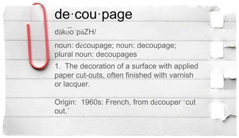 Decoupage Definition 28 Images Decoupage Dictionary