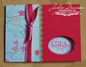 Stampin up birthday card ideas it s a clean and simple card