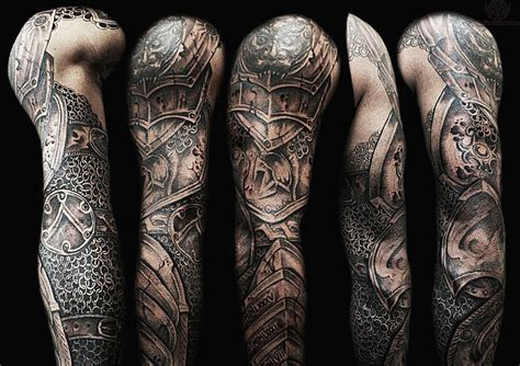 armor sleeve tattoo 60 wonderful armor tattoos