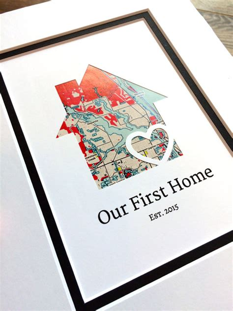 gifts for new apartment owners our first home personalized home map matted gift first