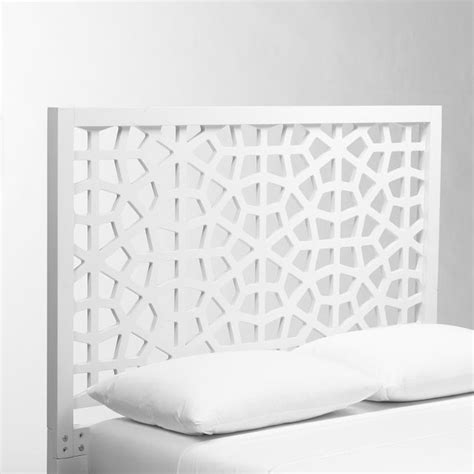Morocco Headboard White Lacquer Contemporary