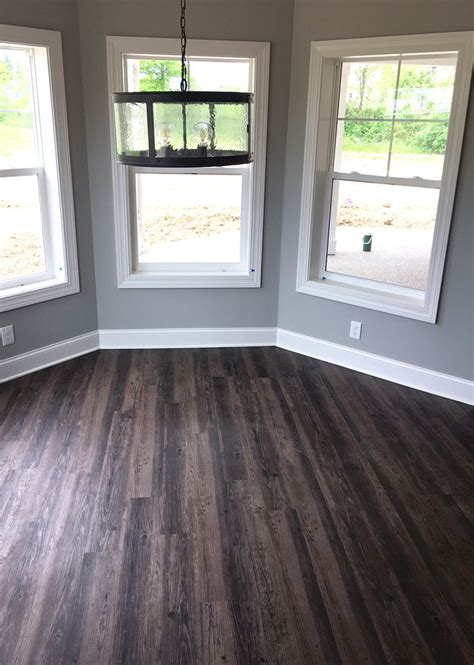 cool distressed luxury vinyl plank flooring in walkout