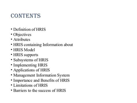 Hris Specialist by Human Resource Information System