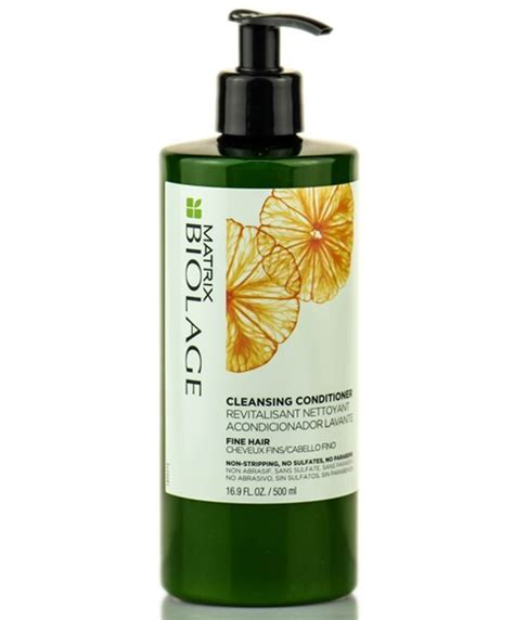 are cleansing conditioners good for fine limp hair cleansing conditioner for fine hair biolage matrix