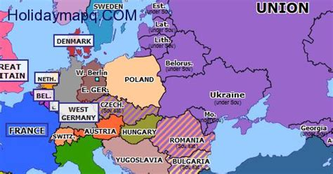 russia map before 1980 map of europe berlin map travel holidaymapq