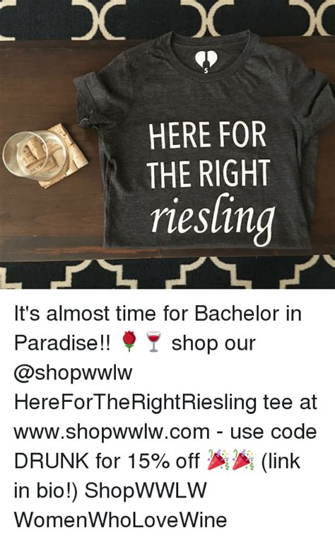 Time Is Almost Up For Shopping by Here For The Right Riesling It S Almost Time For Bachelor