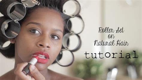 roller set  natural hair youtube