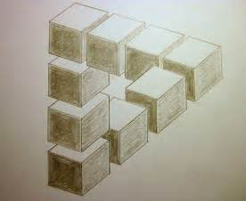 Optical illusion done in pencil op paper hb based on work of the