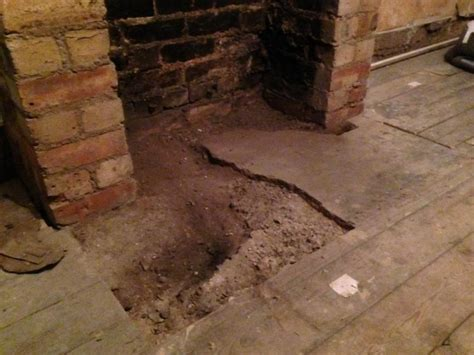 Fireplace Repair Cement by Repairing Concrete Fireplace Hearth After Removing Gas