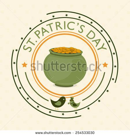 how to clean a rubber st magic pot gold coins hat leprechaun stock vector 388781707