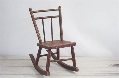 Antique Childrens Wooden Rocking Chairs by Chair Vintage Childs Rocking Chair Antique Rustic Wooden
