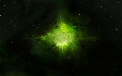 wallpaper space green green explosion in space wallpaper space wallpapers 43181