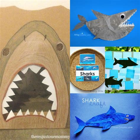 shark crafts for shark crafts and activities for elemeno p