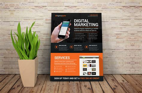 digital marketing flyer psd flyer templates on creative