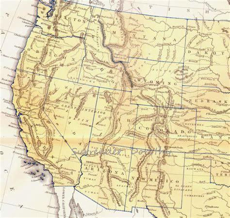 west coast united states map vintage united states map west coast 1871 lippencott