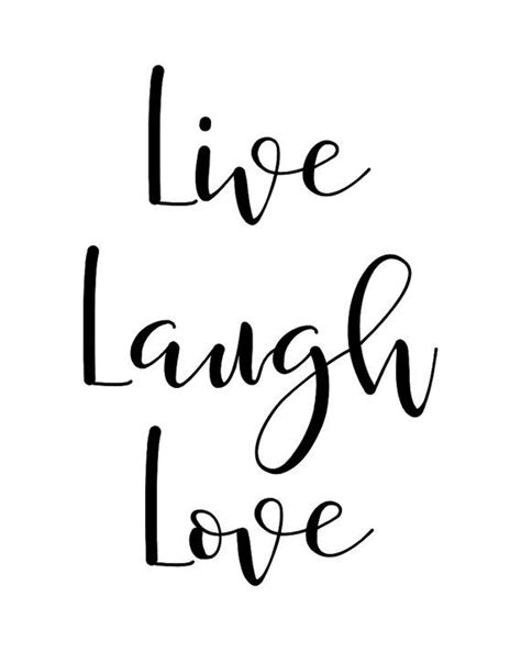 live laugh and love printable wall art quote quot live laugh love quot typography