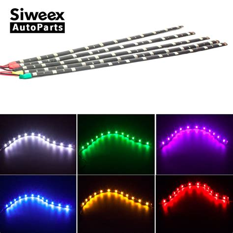 4 led strip light car led strip light 30cm 5050 12 smd waterproof daytime