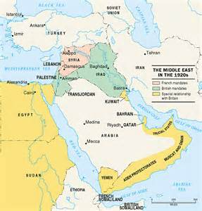 middle east map in 1920 the middle east in the 1920s
