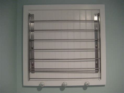 laundry room wall mount drying rack interior decorating