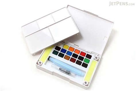 Koi Water Color Pocket Set 18 koi watercolor field sketch box set 18 color palette water brush jetpens