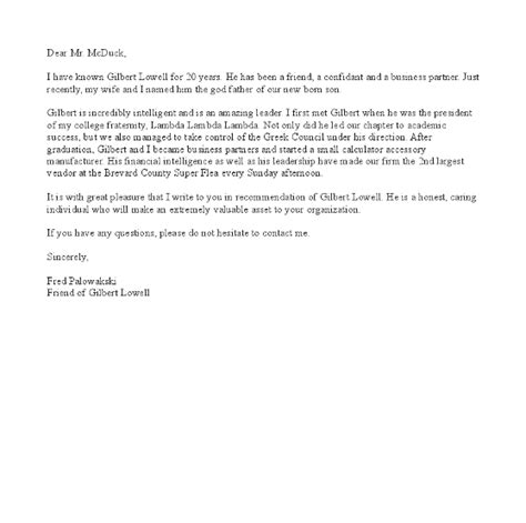 Reference Letter For Friend For College Cover Letter Exles Reference Letter For A Friend