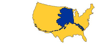 alaska map overlay continental us join the afn ncai national coalition for tribal program