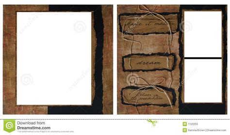 powerpoint scrapbook template vintage scrapbook frame template stock illustration