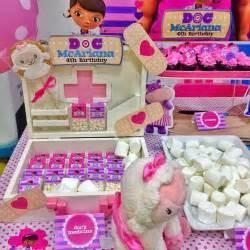 doc mcstuffins theme birthday dessert table