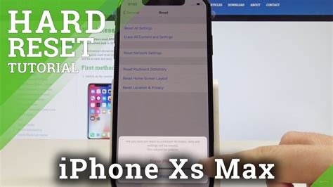 how to factory reset iphone xs max ios reset erase iphone