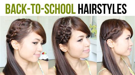 back to school sporty hairstyles hairstyles for college farewell party beautiful kids