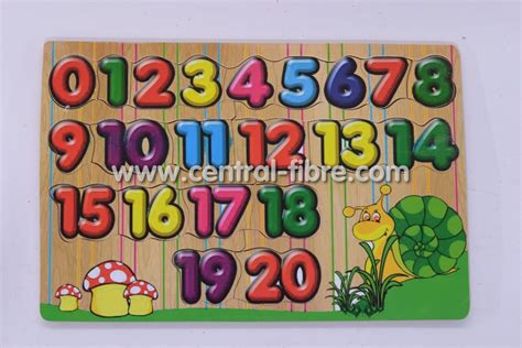 Puzzle Kayu Angka 1 20 puzzle angka seri 0 20 central fibre