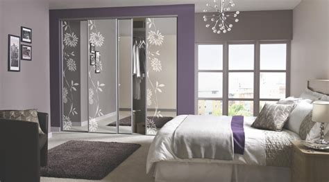 Bedroom Design B Q Contemporary Floral Sliding Wardrobe Doors Contemporary