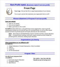 Non Profit Partnership Agreement Template Non Profit Business Plan Template 18 Free Word Pdf