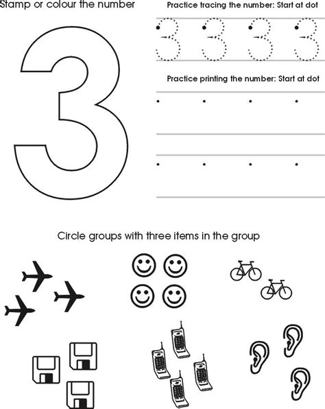 printable preschool worksheets tracing numbers 25 best ideas about number 3 on pinterest numbers