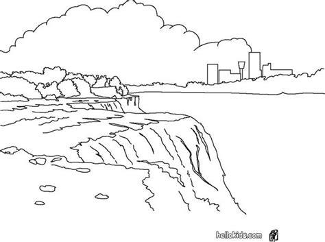 Niagara Falls Coloring Page niagara falls coloring pages hellokids