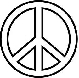 peace colors free peace sign coloring pages