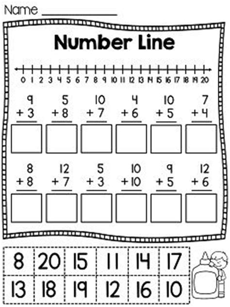 printable number line exercises count counting to 20 and stickers on pinterest