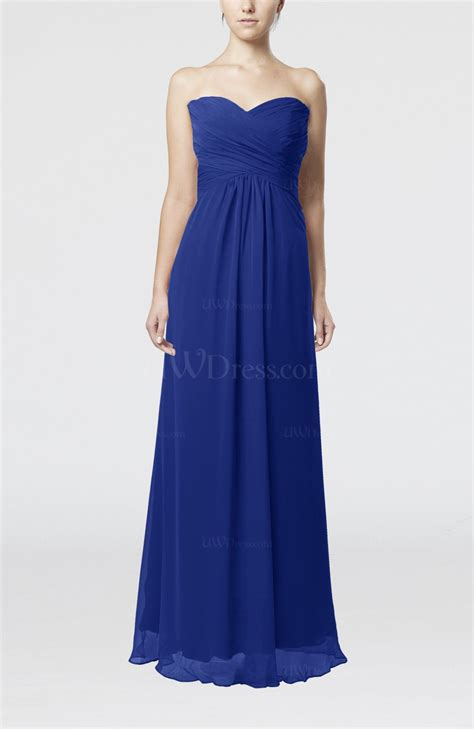 electric blue dress for wedding electric blue simple empire sweetheart zipper ruching