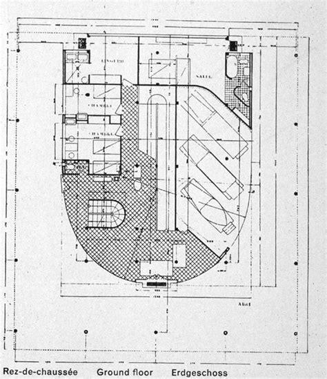 villa savoye floor plan dwg gallery villa savoye plan dwg