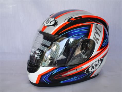 Helm Kyt Rocket White Black kyt otoracing