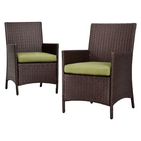 Target Outdoor Dining Chairs Thornquist 2 Wicker Patio Dining Chair Set Target