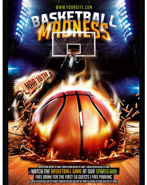 basketball tournament flyer template basketball madness flyer templates for clubs business marketing sports flyer