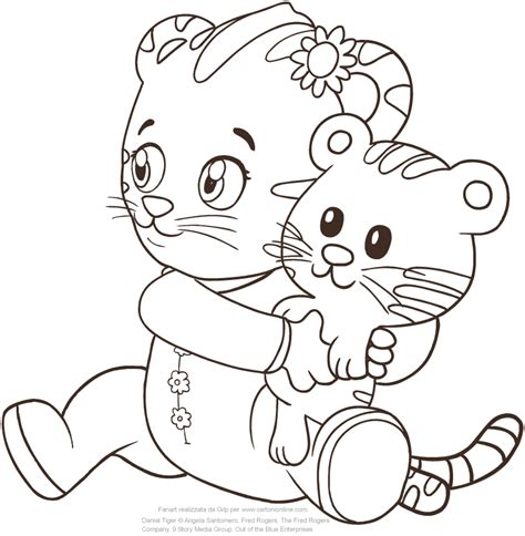 coloring page daniel tiger baby margaret the of daniel tiger coloring pages