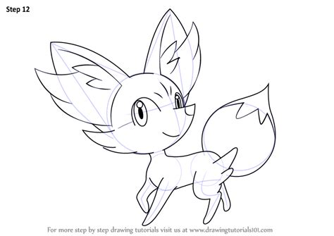 pokemon coloring pages fennekin learn how to draw fennekin from pokemon pokemon step by