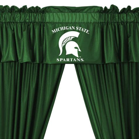 university of michigan curtains ncaa michigan state university spartans 5pc jersey